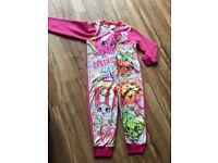 Shopkins Onsie Pyjamas 3-4 Years Brand New with tag