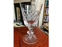 House of Commons cut crystal water goblet