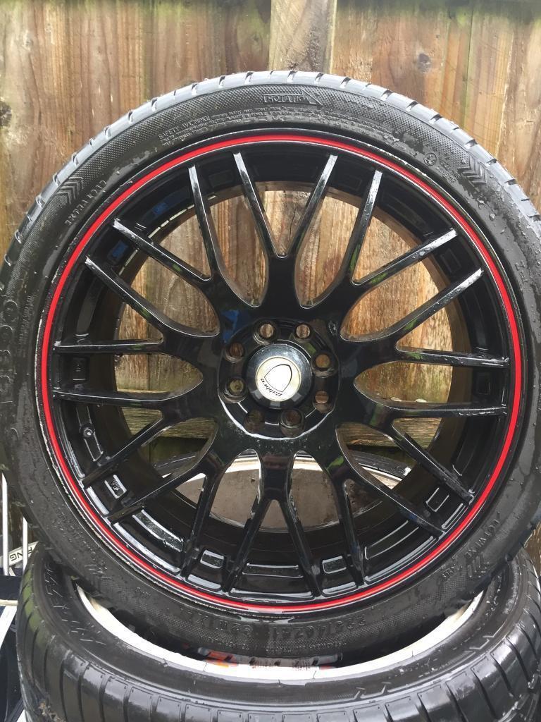 "Calibre 18"" alloys tyres 4 stud ford Vw mini"