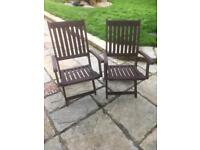 Garden carver chairs