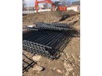 Heavy steel fencing