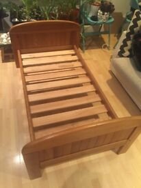 Childs wooden bed