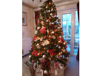 7.5 ft Green Spruce Artificial Christmas Tree