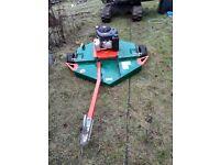 ROTARY TOPPER MOWER FOR QUAD ATV