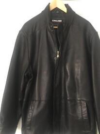 Men's butter soft black leather jacket