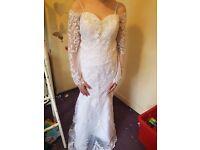 Bnwt White Wedding dress size 10