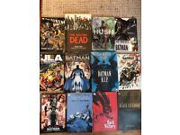 Various graphic novels - Batman, Walking Dead, JLA - REDUCED £30