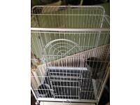 Large Cage On Wheels Suitable For Parrot, Chinchilla Or Similar