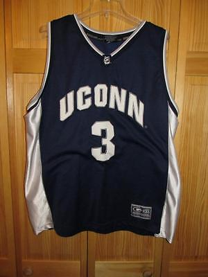 Vintage Uconn Huskies Colosseum Jersey #3  Size Adult 2XL Sewn for sale  Chester