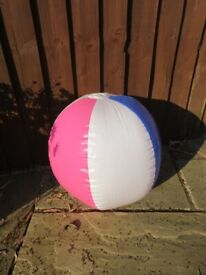 LARGE INFLATABLE BALL for the pool or sea - with safety instructions
