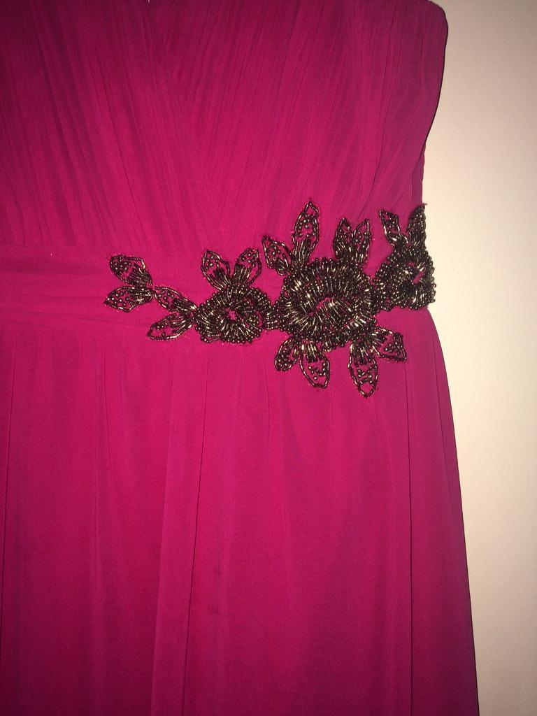 Evening dress/ ball gown Size 16in Plymouth, DevonGumtree - Little Mistress Size 16 Worn once! Beautiful pink dress, can be worn with or without straps.Lovely little bit of beading. Perfect condition!