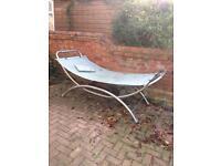 Free silver metal garden hammock