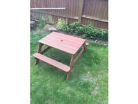 Plum Toddler picnic table