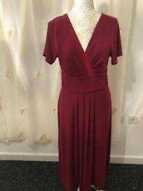Joanna Hope Plum dress SIZE 14