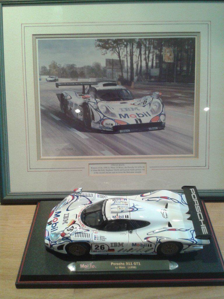 Porsche Le Mans Winner Model and framed print
