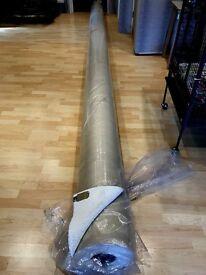 WHITE CARPET 100% POLYPROPYLENE -50oz SIZE 5m X 6m NEW