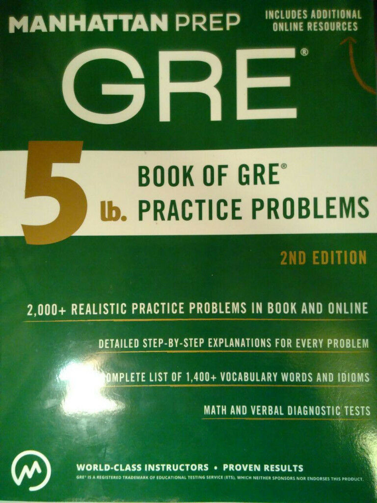 GRE Practice Material Manhattan Prep + Official Guide