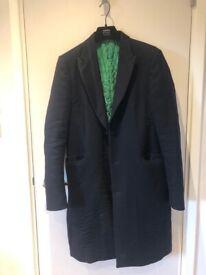 Men's Paul Smith 100% Wool Smart Navy Coat 38 Medium RRP £725