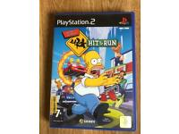 PlayStation 2 Simpsons hit and run game. Ps2