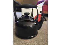 Let creuset black traditional kettle for the hob or aga. Brand new.