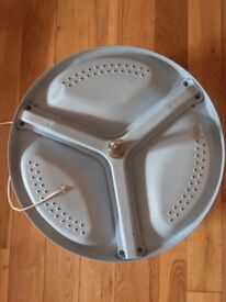 HANDMADE SKY BLUE TUMBLE DRYER DRUM LAMP (hanging or floor)