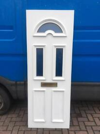 Used Upvc White Front Door Infill Panel
