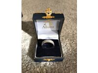 Men's Brand New 14k White Gold Ring, Size U, Engraved