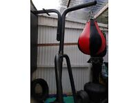 Bodymax punch bag stand with two punch bags included.