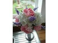 Handmade Silk Flowers Bridal Bouquet