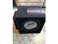 Alpine 800w subwoofer and amp