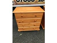 solid pine wood chest of drawers £50 a piece locker £25 a piece