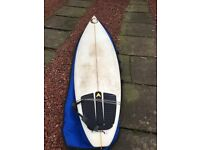6'3 short board and board bag for sale