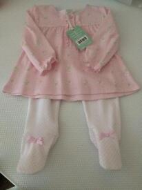 Baby Girls Pink Trouser Suit