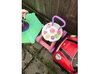 Job lot garden toys jumperoo tea trolly fisher price