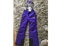 Purple Salopettes size 8 brand new