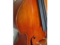 1960s East German Double Bass with case & bow