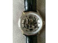 Mens Rotary Skeleton Watch