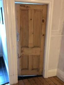 Edwardian 4 panel original pitch pine doors