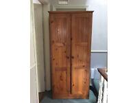 Solid wood, pine, single wardrobe