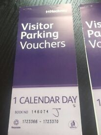11 Full day and 10 hour Visitor Car Parking Vouchers - Hackney, Zone J