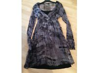 Phase Eight Grey and black dress - size small
