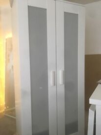 White malm 2 door wardrobe. Great condition