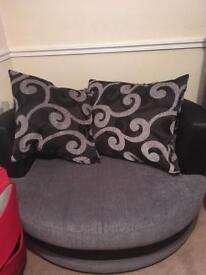 2 seater couch and comfort chair