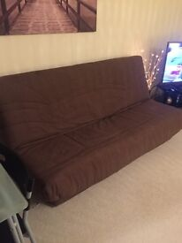 Fabric Sofa Bed (Brown)