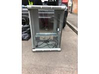 Glass server/switch cabinet