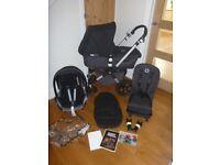 Bugaboo Cameleon 3 Full Travel System! Cam Pushchair, Carrycot & Maxi Cosi Car Seat! Black/Grey!