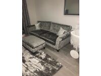 Dfs 4 seater couch and footstool