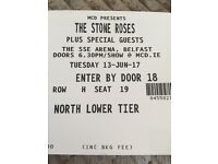 2 x stone roses tickets Belfast arena