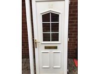 Upvc External door complete with frame.