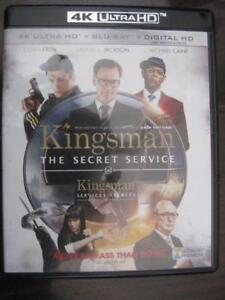 Kingsman: The Secret Service (4K Ultra HD Blu-ray DVD) Action Adventure Movie Film. Colin Firth. Michael Cain. S Jackson